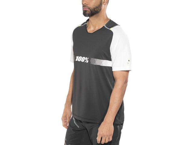 100% Celium Solid Enduro/Trail Bike Jersey Shortsleeve Men white/black